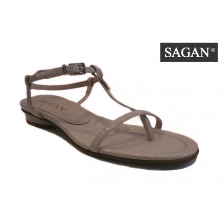 elegantní jemné béžové sandálky SAGAN