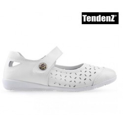 bílé dírkované polobotky TENDENZ