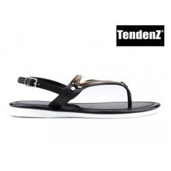 černo zlaté silikonové sandály TENDENZ