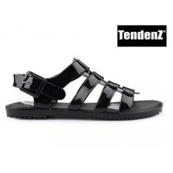 černé silikonové sandály TENDENZ