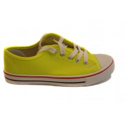 žluté neonové textilní tenisky