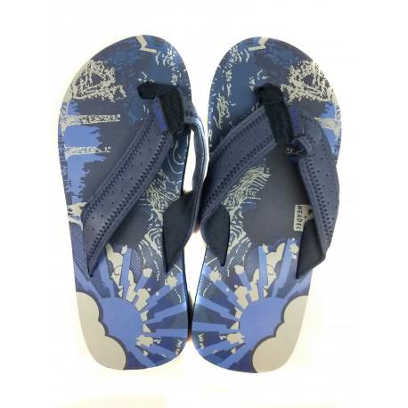 modré dámské žabky