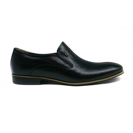 pánská černá kožená elegantní obuv CARSONA