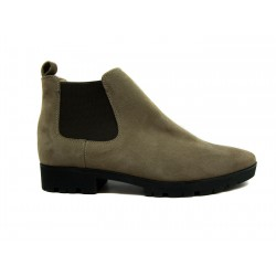 béžová kožená kotníková obuv CARSONA VIP