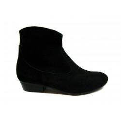 černá kožená kotníková obuv CARSONA VIP