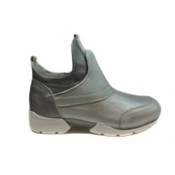 stříbrné kožené tenisky INDIGO Shoes