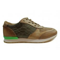 béžovo šedé kožené tenisky INDIGO Shoes