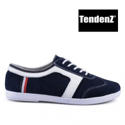 tmavě modré kožené tenisky TENDENZ