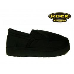 černé textilní polobotky mokasíny Rock Spring