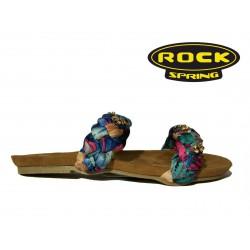 letní pantofle s modrými pletenými pásky Rock Spring