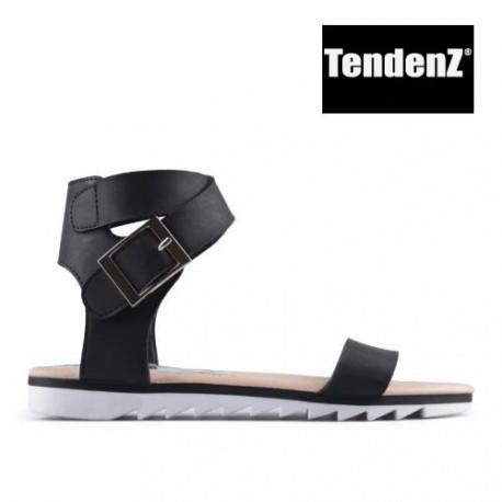 černé sandálky TENDENZ