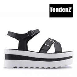 černé sandály na vysoké platformě TENDENZ