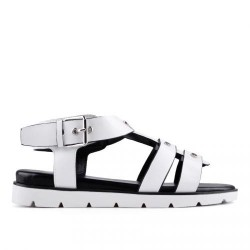 bílé páskové sandálky TENDENZ