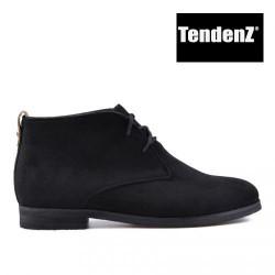černá šněrovací kotníková obuv TENDENZ