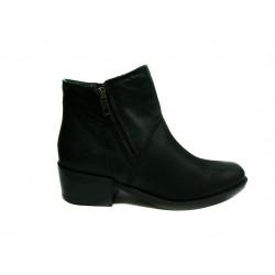 černé kožené polo kozačky INDIGO 1702 shoes
