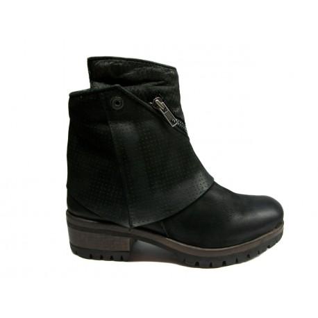černé kožené polo kozačky INDIGO shoes