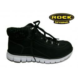 černá šněrovací kotníková obuv Rock Spring