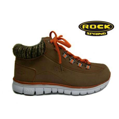 světle hnědá šněrovací kotníková obuv Rock Spring