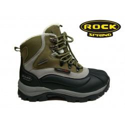 zeleno černá zimní šněrovací obuv Rock spring