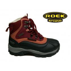 bordo černá zimní šněrovací obuv Rock spring