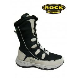 černo krémové zimní sportovní kozačky Rock spring