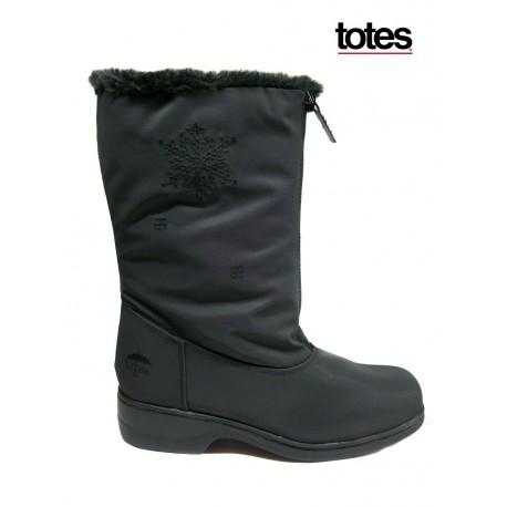 černé zimní šusťákové voděodolné kozačky - sněhule Totes