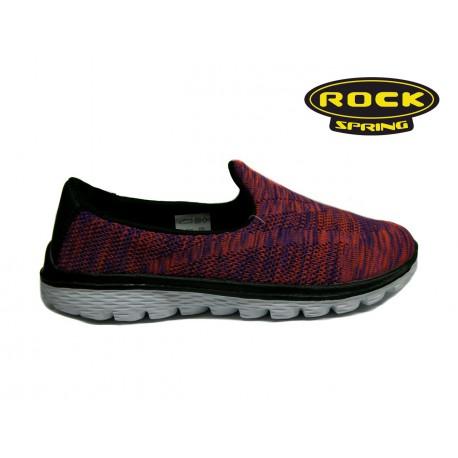 fialové žíhané textilní sportovní mokasíny Rock spring