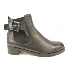 černá kožená kotníková obuv  - chelsea boots