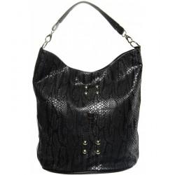 černo šedá měchová kabelka s hadím vzorem GROSSO