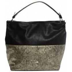 černo zlatá metalická kabelka GROSSO