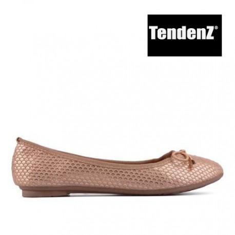 zlato béžové balerínky TENDENZ VIS17-005