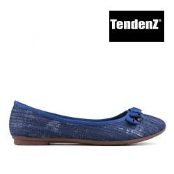 modré džínové třpytivé baleríny TENDENZ VIS17-006