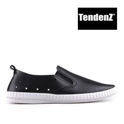 černé sportovní mokasíny TENDENZ VSS17-009