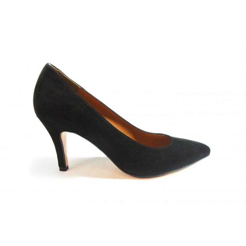 29cacfea80c černé kožené italské lodičky Sara Milani - Danea-Shoes
