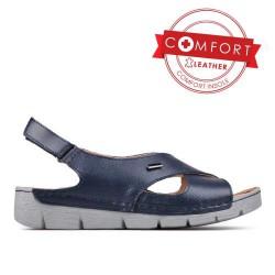 modré kožené sportovní sandály TENDENZ SSS17-019