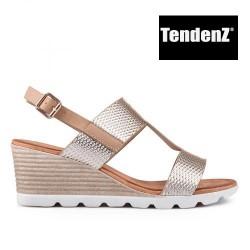 zlaté páskové sandály na platformě TENDENZ