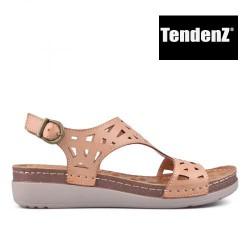 béžové dírkované sandály TENDENZ TAS17-037