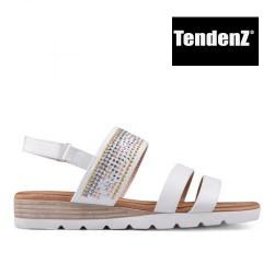 bílé zdobené sandály TENDENZ TAS17-018