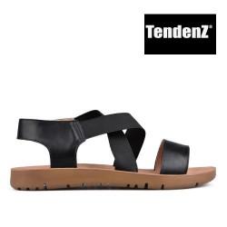 černé páskové sandály TENDENZ VIS17-011