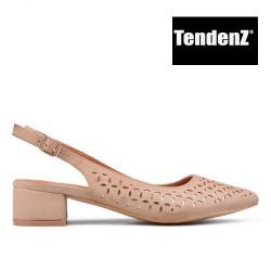 béžové elegantní lodičky na nízkém podpatku TENDENZ TAS17-010