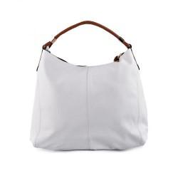 béžová elegantní kabelka s hnědým uchem TENDENZ FFS17-004