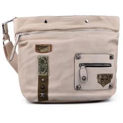 béžová crossbody kabelka s nášivkami TENDENZ FFS17-059