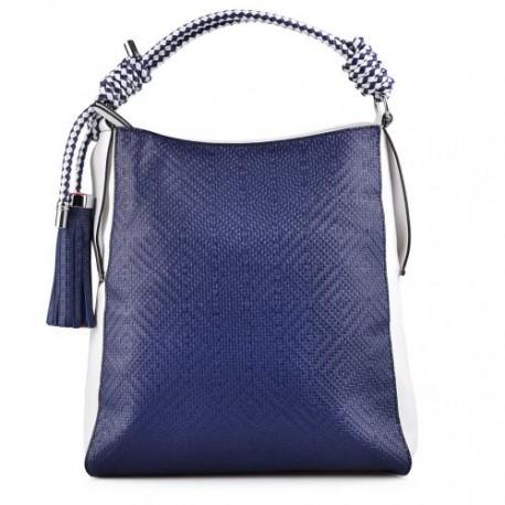 modro bílá vzorovaná kabelka TENDENZ FFS17-009