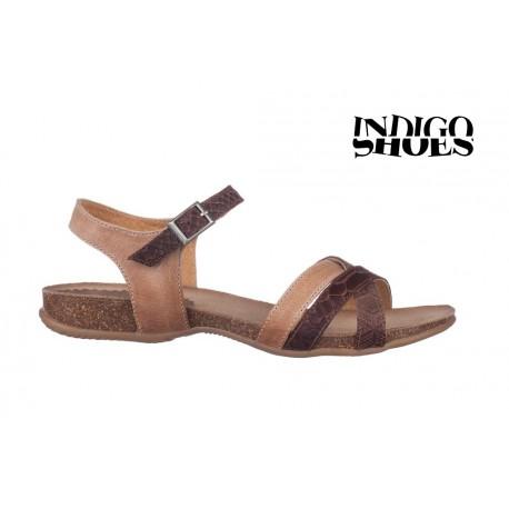 hnědé kožené sandály INDIGO Shoes