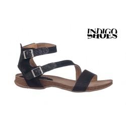černé kožené sandály INDIGO Shoes 1681
