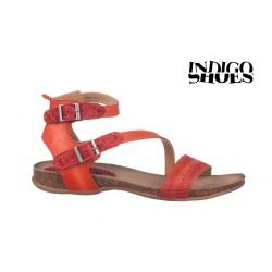 červené kožené sandály INDIGO Shoes 1681