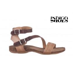 béžovo hnědé kožené sandály INDIGO Shoes 1681