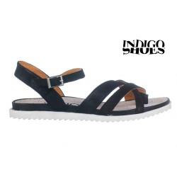 černé kožené sandály INDIGO Shoes 15102
