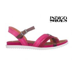 tmavě růžové kožené sandály INDIGO Shoes 15102