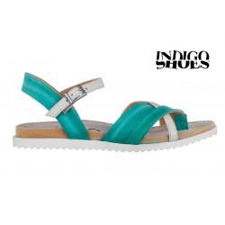 mátově zelené kožené sandály INDIGO Shoes 15102